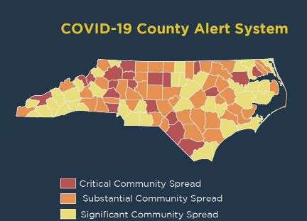 """Five Coronavirus-Associated Deaths Reported Today In Catawba County, State Places Catawba Into """"Red"""" Category On Alert Map"""