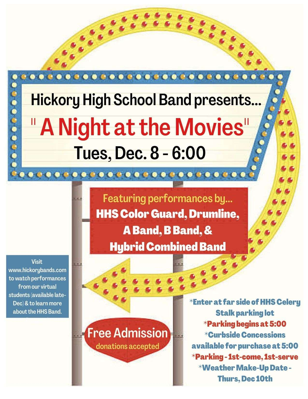 Hickory High Band To Hold Movie Music Concert