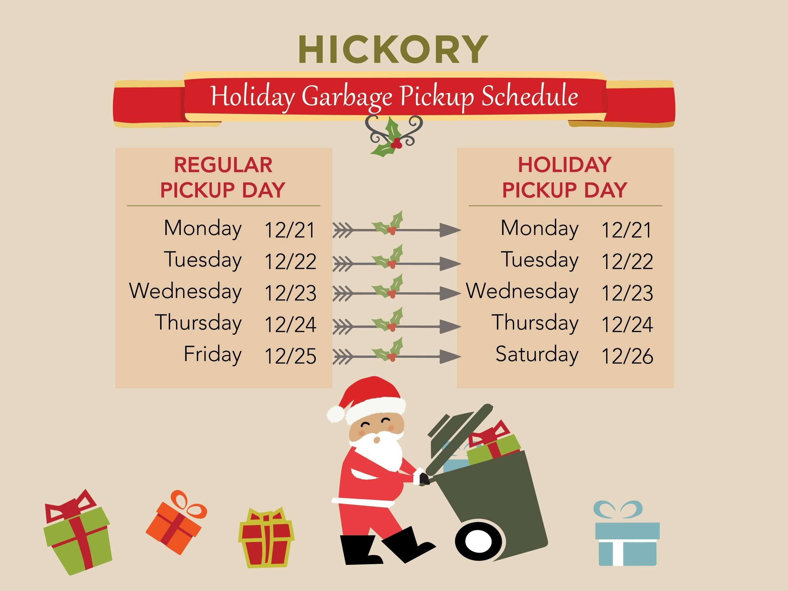 Holiday Closings For Hickory, Catawba County, & Caldwell County
