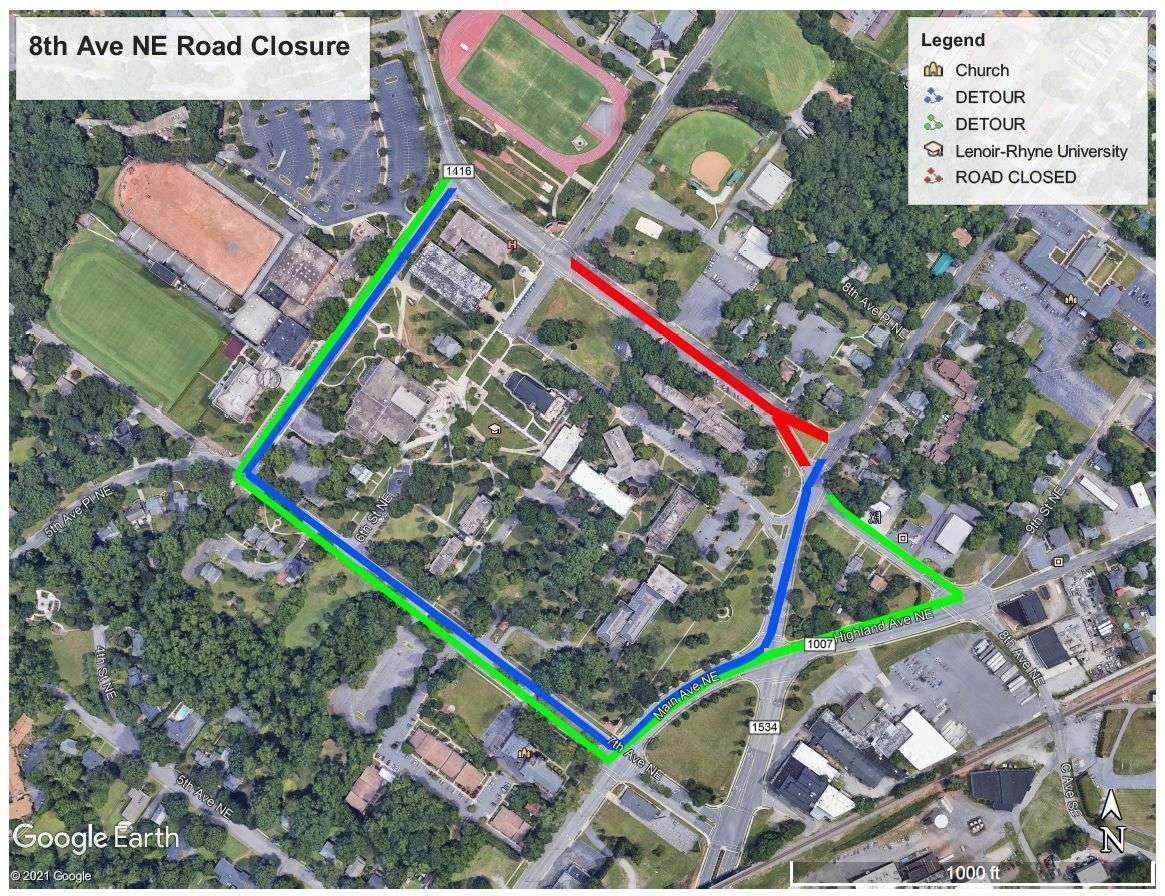 Temporary Road Closure Tuesday Near Lenoir-Rhyne