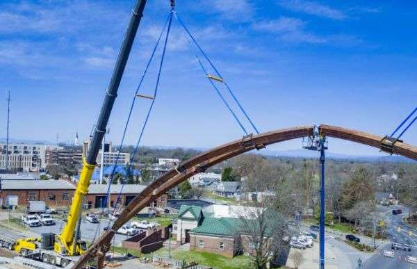 City Of Hickory Provides Update On Construction Of City Walk Arches