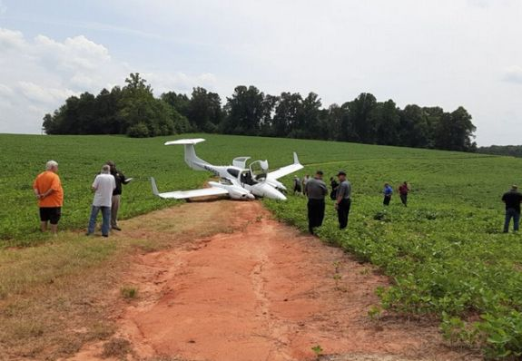 Plane Crash Lands In Alexander County