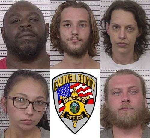Five Suspects Charged In Caldwell County Drug Case