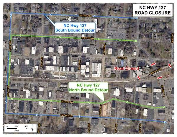 Portion Of N.C. 127 To Be Closed In Hickory Saturday
