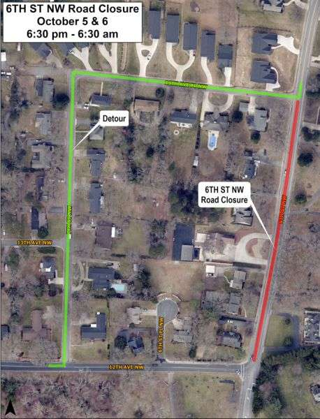 Portion Of Hickory Road To Be Closed Next Week